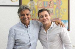 O deputado Beto Mansur visitou Mogi Mirim e almoçou com Stupp na quinta-feira (Foto: Everton Zaniboni)