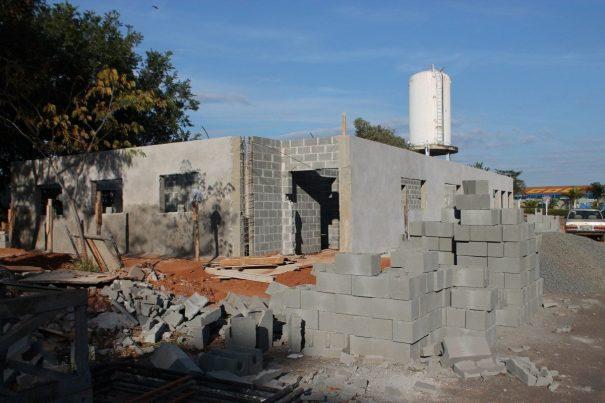 Refeitório, academia e vestiários ficam prontos em setembro. (Foto: Letícia Guimarães)