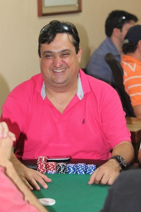 Presidente do Clube, Rodrigo se empolga com a atmosfera do pôquer (Foto: Everton Zaniboni)