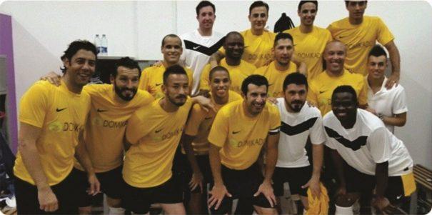 Em companhia de nomes como o português Figo, Rivaldo venceu o Tour das Lendas por 5 a 2, em jogo contra seleção de atletas locais. (Foto: Reprodução Instagram Rivaldo)