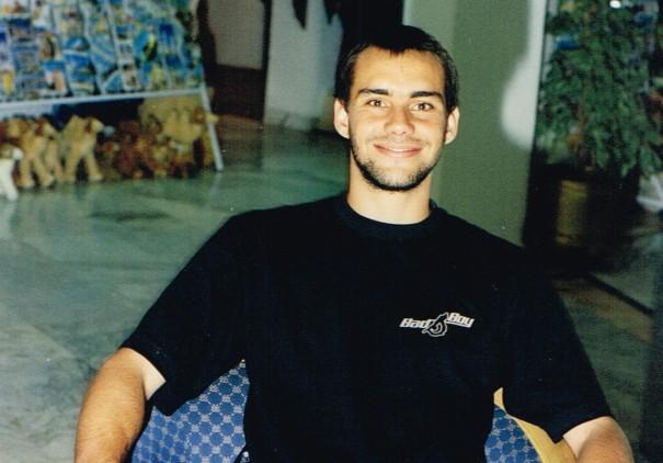 Fred no hotel onde ficou hospedado durante o período na Tunísia.(Foto: Arquivo pessoal)