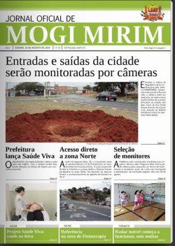 Jornal em que são publicadas matérias de interesse do Executivo (Foto: Reprodução)