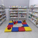 Emeb Nelson Neves de Souza inaugura biblioteca