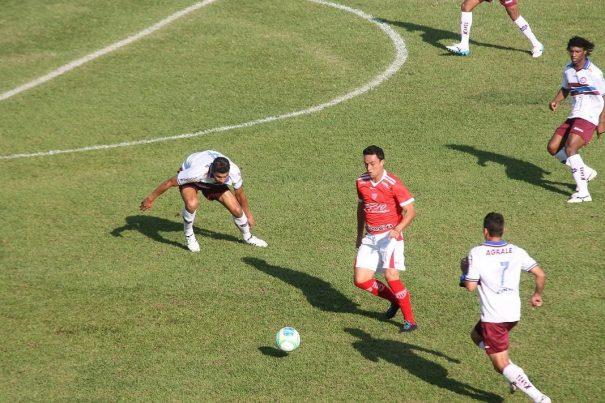 Centroavante Nando foi o autor do gol do Mogi Mirim no empate diante do Caxias. (Foto: Diego Ortiz)