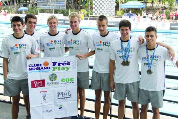 Equipe do Clube Mogiano/Free Play ficou em nono lugar no quadro de medalhas masculino. (Foto: Divulgação)