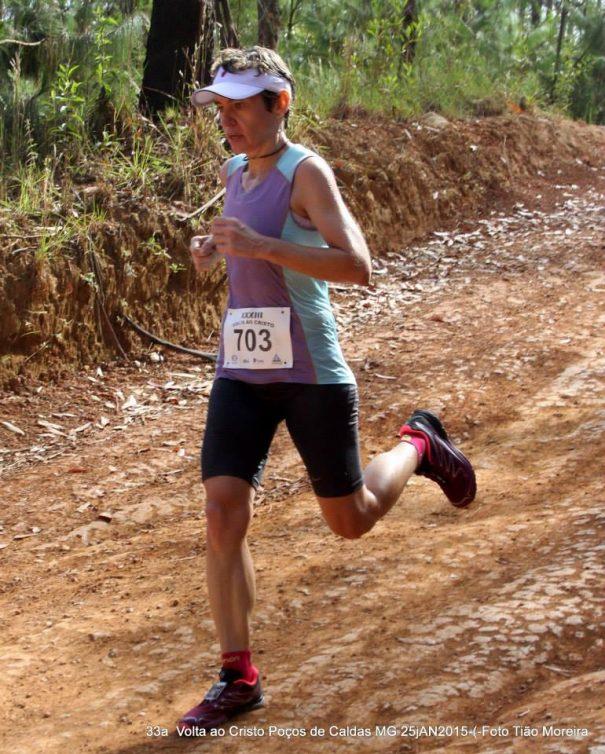 Mirlene Picin foi a 15ª colocada na classificação geral feminina da prova. (Foto: Tião Moreira)