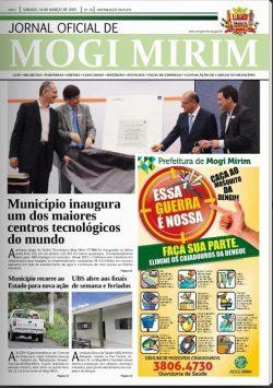 Foto do prefeito em órgão oficial ocasionou a representação encaminhada à Promotoria (Foto: Reprodução)