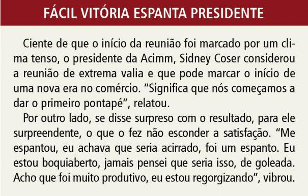 Fácil vitória espanta presidente