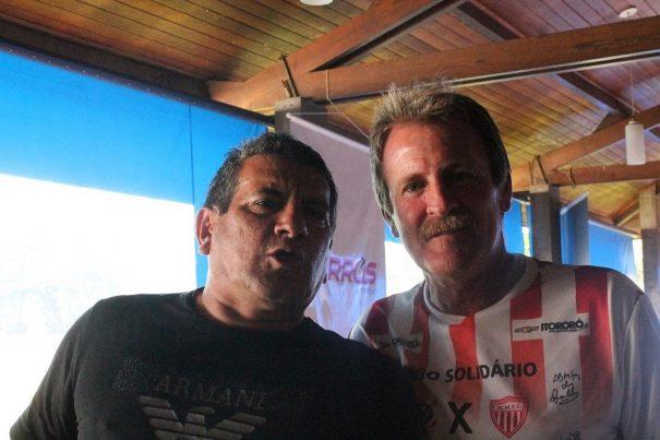 Henrique e Oscarzinho atuaram com Silvinho no histórico acesso. (Foto: Diego Ortiz)