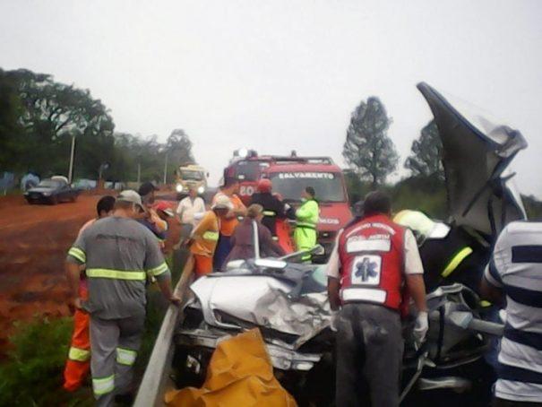 Lima transitava pela rodovia com um Astra, quando colidiu frontalmente com um caminhão (Foto: Divulgação)