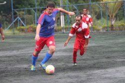 Atlético Mogi goleou o Baraqueiros, no sábado, no Placar Society. (Foto: Diego Ortiz)