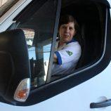 Tradição: uma família de motoristas em Mogi Mirim, com dona Sônia no volante