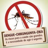 Município apresenta três novos casos de dengue em um período de 7 dias