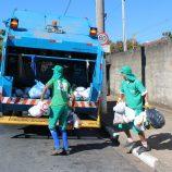 Coleta de lixo acontece apenas em UBSs, escolas, órgãos municipais e Centro