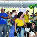 Café da manhã antecede a vibração da primeira vitória da seleção brasileira