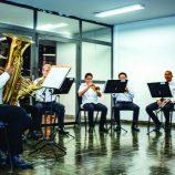 Quinteto de Metais, da Lyra, se apresenta na Feira Noturna