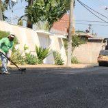 Recapeamento: Rua José Scomparin, na zona Norte, recebe novo asfalto