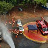 Bombeiros e Renovias realizam treinamento na tarde de quarta-feira