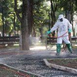 Contra o coronavírus, cidade terá terceira etapa de desinfecção de ruas