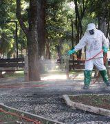 Etapa de desinfecção de ruas será realizada neste sábado com 4 equipes