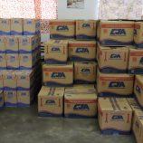 13,5 toneladas de alimentos são doados para famílias em vulnerabilidade social