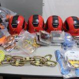 Bombeiros recebem novos materiais de salvamento em altura e de resgate
