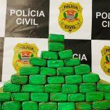 Mogimirianos são presos e Polícia Civil encontra 40 tabletes de maconha