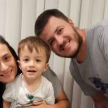 Muitas comemorações: Marina, Tati e Guilherme