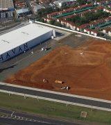 Começa a construção do Atacadão no final da Pedro Botesi, em Mogi Mirim