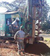 Perfuração da base de concreto dá início às obras do reservatório da ZO
