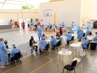 Idosos do Centro da cidade recebem testagem contra o coronavírus neste sábado