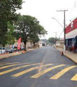 Avenida Luiz Pilla, em Martim Francisco, é inteiramente recapeada