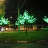 Mogi começa a viver clima natalino com decoração em led em vários pontos
