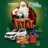 Mulher é a ganhadora do carro Fiat Mobi da Campanha de Natal da Acimm