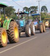 Produtores rurais de Mogi aderem a 'tratoraço' contra fim de isenção do ICMS