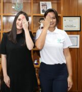 Mogimiriana Amália Barros é recebida, no Planalto, pela 1ª-dama Michelle Bolsonaro