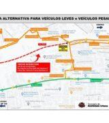 Trânsito de veículos será interditado na Avenida Brasil a partir de 2ª-feira