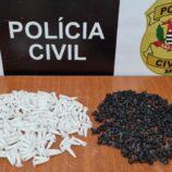 Mulher é presa pela Polícia Civil com 584 porções de droga