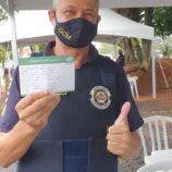 Profissionais das forças de segurança de Mogi Mirim são vacinados contra a Covid-19
