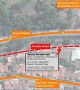 Novo trecho da Avenida Brasil é interditado para obras de saneamento