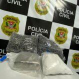 Ação da Polícia Civil leva três para a cadeia por tráfico de drogas