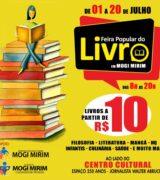 Mogi Mirim promove feira popular do livro de 1º a 20 de julho em frente ao CC