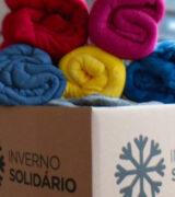 Campanha Inverno Solidário já arrecadou 180 cobertores novos