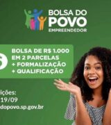 Inscrições abertas para o 'Bolsa Empreendedor' com auxílio de R$ 1 mil