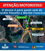 ATENÇÃO: Saae realiza obras na Rod. Sen. André Franco Montoro na 2ª-feira