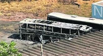 Ônibus do Mogi Mirim é encontrado incendiado no estádio Vail Chaves