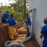 Estação elevatória de esgoto  no bairro do Mirante passa por revitalização